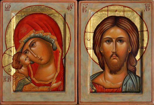 Венчальная пара Спас и Богородица
