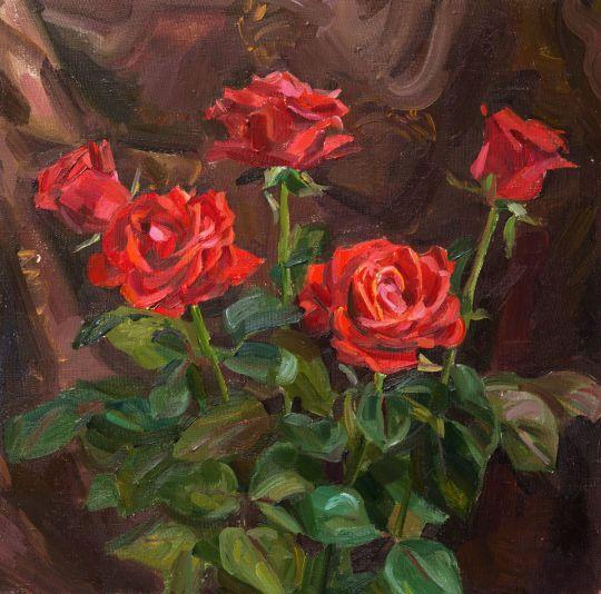 Праздничные розы