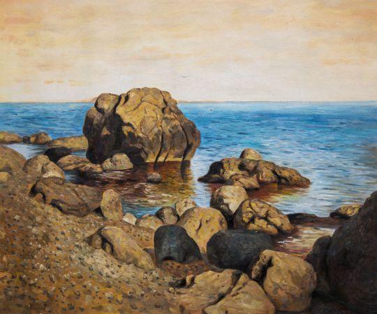 Берег моря. Крым. Исаак Левитан (копия Дарьи Лагно)