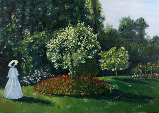 Копия Моне Дама в саду