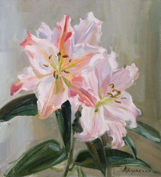 Розовые лилии