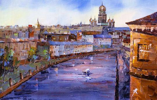 Санкт-Петербург. Каналы. Вид на Исаакиевский собор N2