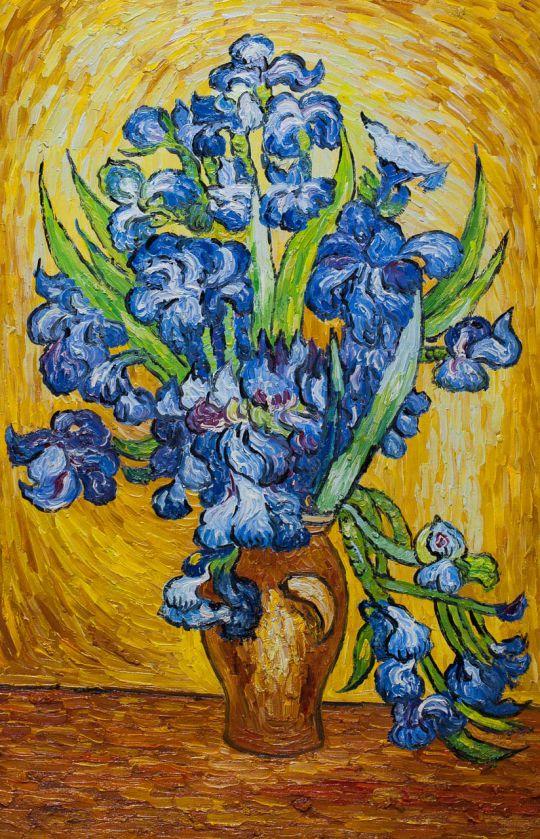 "Копия картины Ван Гога ""Натюрморт с ирисами"", 1889"
