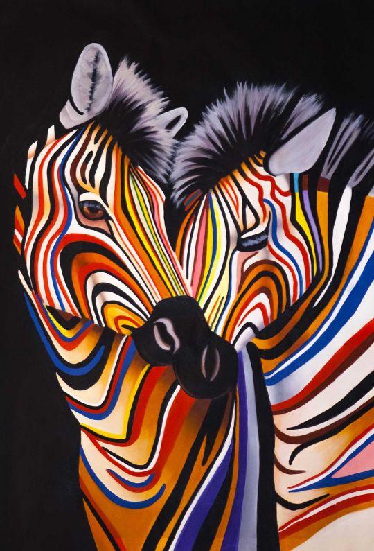 Разноцветные зебры N9