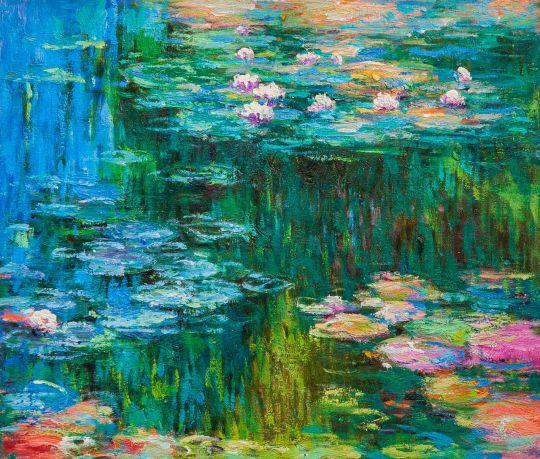 Водяные лилии N10, копия С.Камского картины Клода Моне