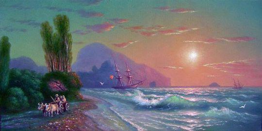 Закат над Аю-Дагом.