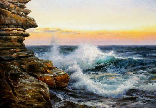 Волны у скал