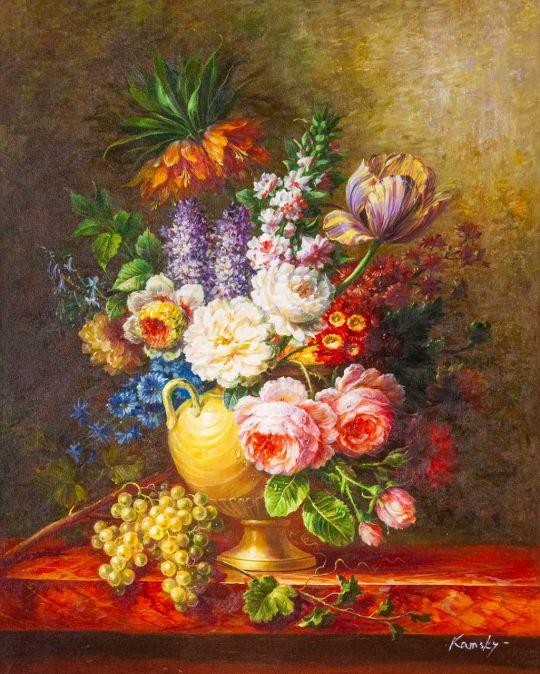 Букет c тюльпаном и пионами