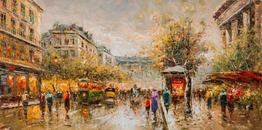 Пейзаж Парижа Антуана Бланшара