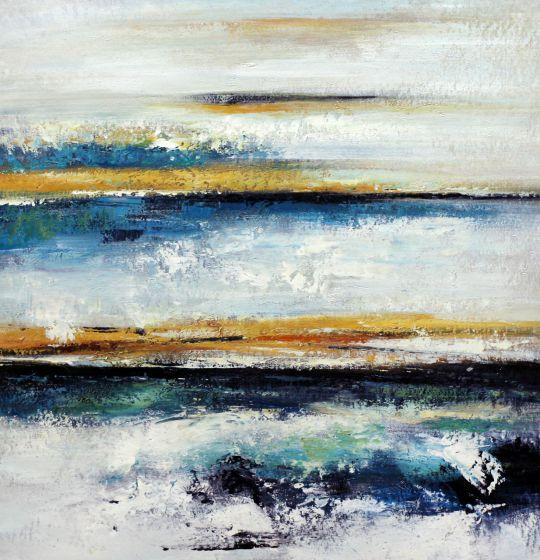 """Абстракция маслом """"Эффект прибрежной волны N3"""""""
