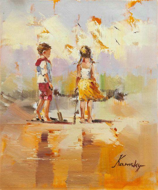Дети на морском берегу. N18