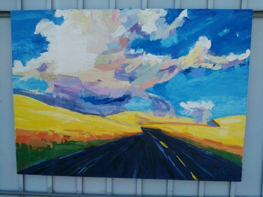 Облако над полем донника