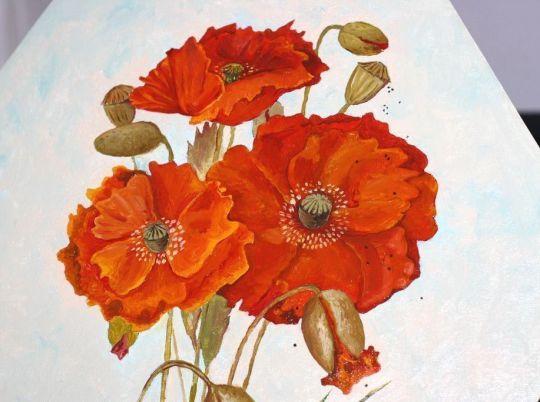 Картина Маки три возраста цветка