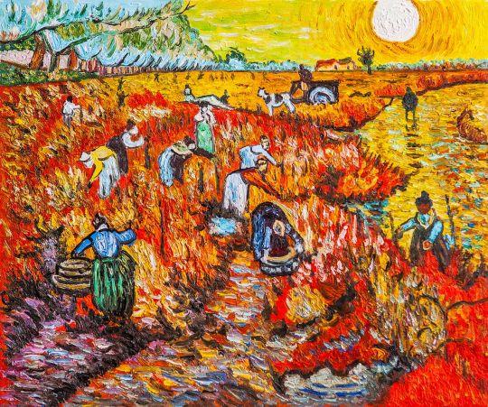 Копия картины Ван Гога Красные виноградники в Арле