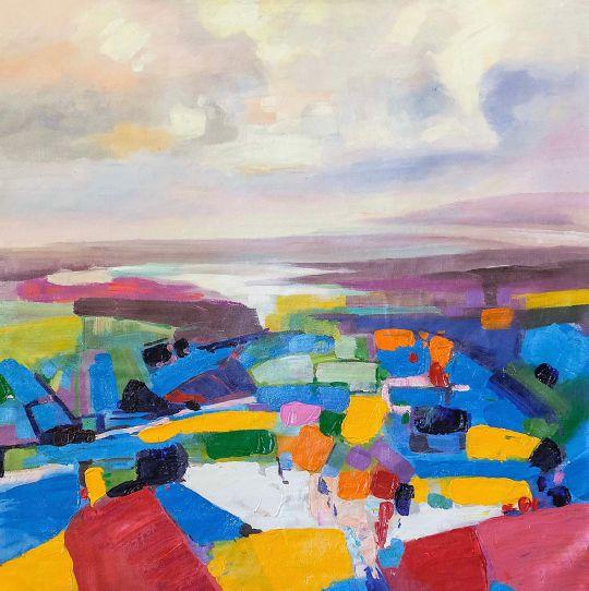 Голландские разноцветные поля N1