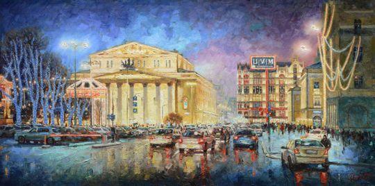 Праздничный свет Большого театра