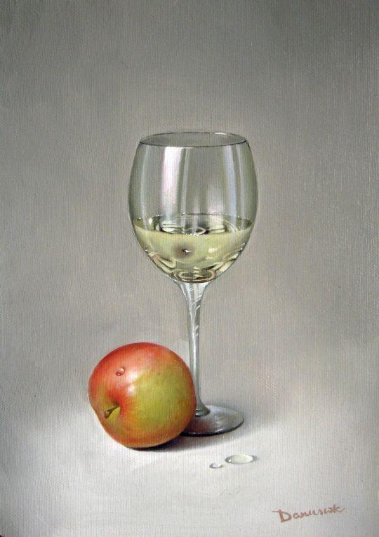 Натюрморт с яблоком