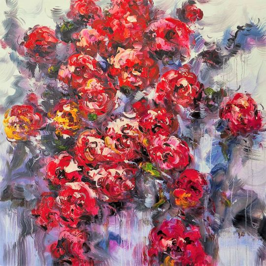 Розы. Красное