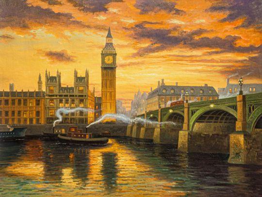 Копия картины Томаса Кинкейда Лондон (London)