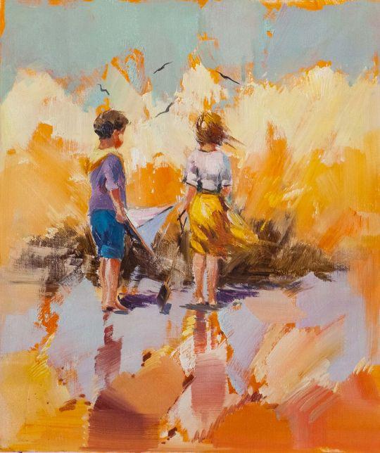 Дети на морском берегу. N2