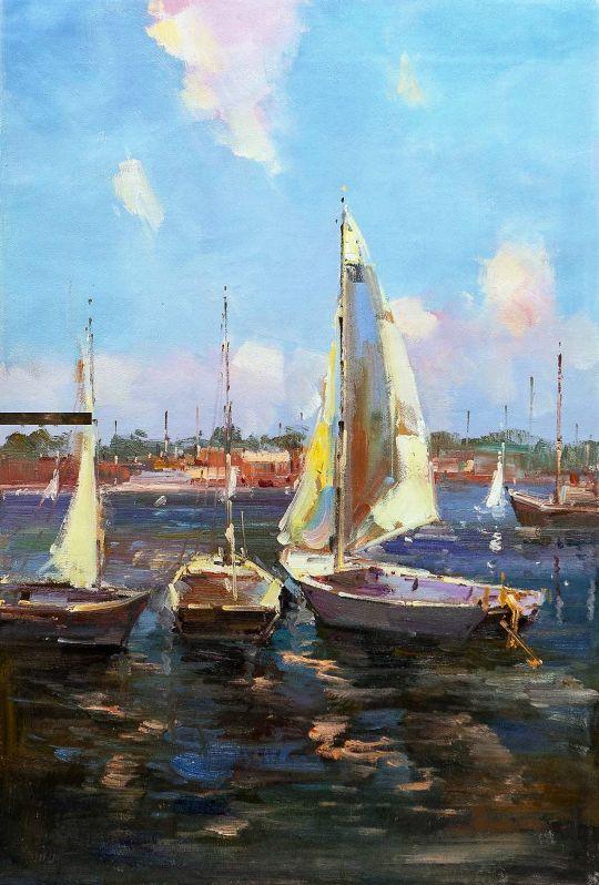 Лодки у берега. Полдень