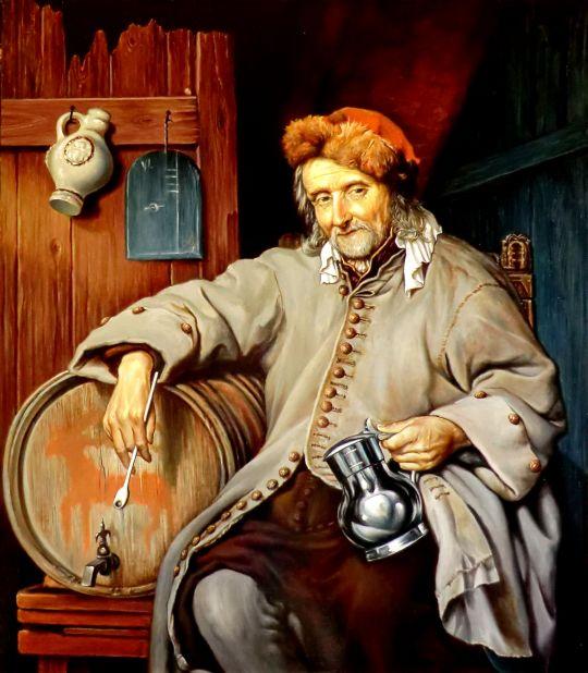 Старый пьяница (копия Метсю)