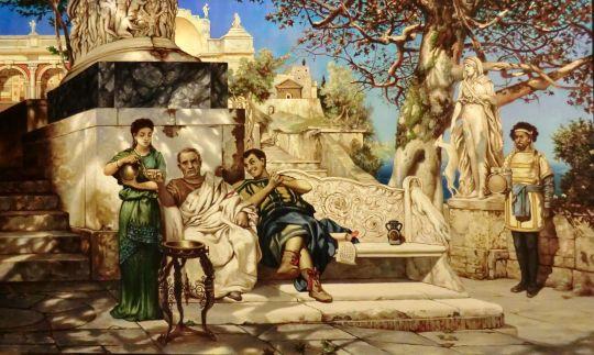 Отдых патриция (копия Семирадского)