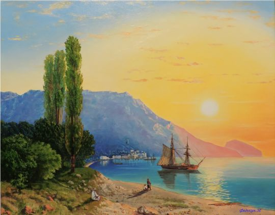 Восход солнца над ялтой