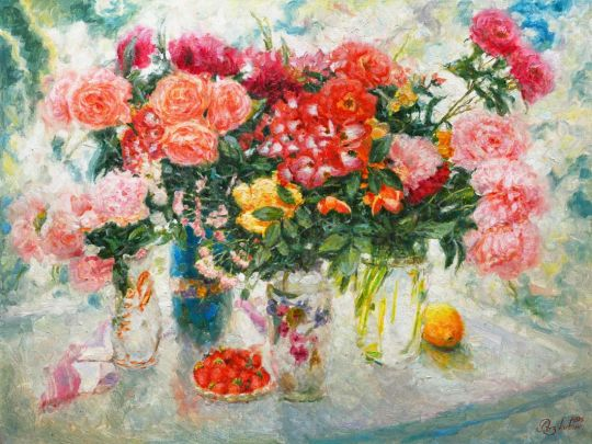 Натюрморт в розовых тонах