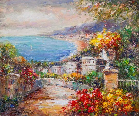 Средиземноморский городок в полдень