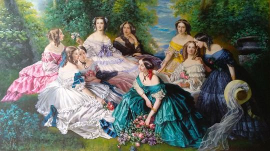 Копия картины Ф.К. Винтерхальтера. Императрица Евгения в окружении фрейлин