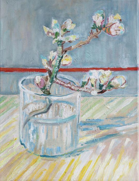Цветущая ветка миндаля