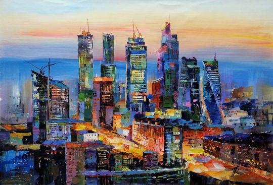 Вид на Москва-Сити. Закат