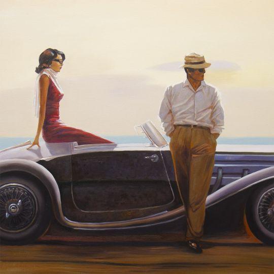 Копия картины Брента Линча. Coastal drive