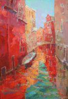 Венеция.Пурпурные отражения.