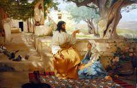 """копия картины Г. Семирадского """"Христос в доме Марии и Марфы"""""""