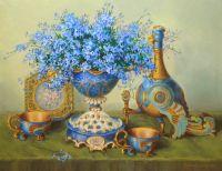 Незабудки в фарфоровой вазе