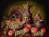 Натюрморт с красными яблоками