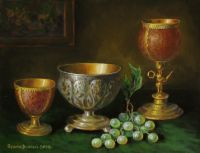 Натюрморт с серебряной чашей