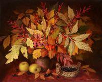 Натюрморт с листьями ясеня