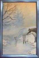 Лошади на ручье
