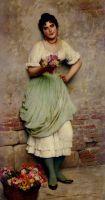 Портрет, венецианка, цветочница, женщина, корзина,