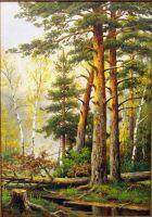 Пейзаж с соснами