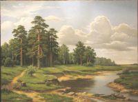Сосны у реки
