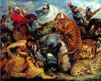 Охота на тигров и львов.копия П.Рубенса.худ.С.Минаев и Р.Смородинов