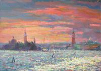 . Венецианская лагуна.Закат.