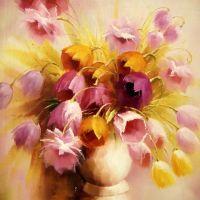 Розовые тюльпаны.худ.А.Джанильятти