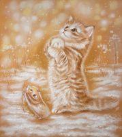 Снежинки ловить