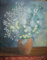 Букет полевых цветов с ромашками