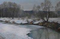 Река Барнаулка, начало весны